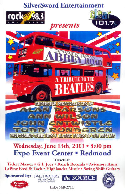 John Entwistle - A Walk Down Abbey Road Tour - June 13, 2001(USA)