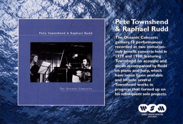 Pete Townshend - The Oceanic Concerts - 2001 UK