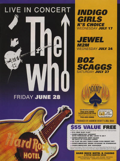 The Who - Hard Rock Hotel - 2002 USA