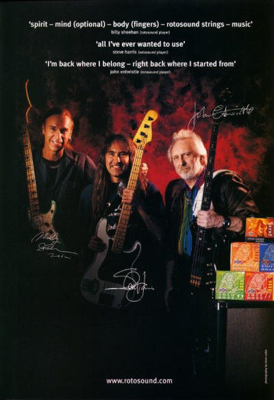 John Entwistle - RotoSound Strings - 2002 UK