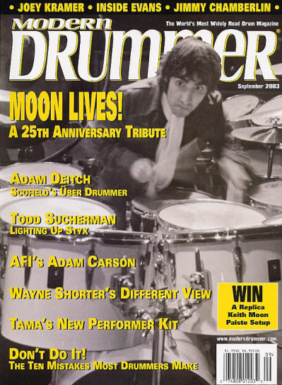 Keith Moon - USA - Modern Drummer - September, 2003