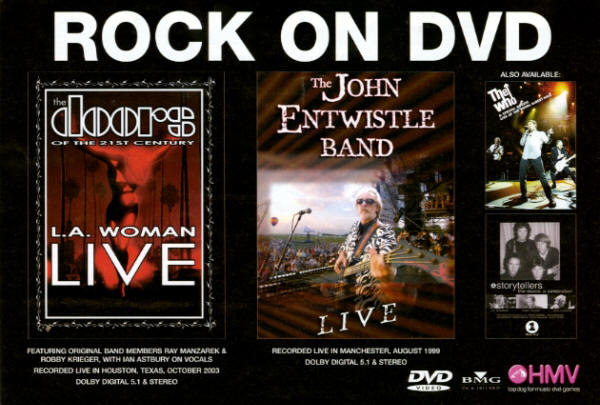 John Entwistle / The Who - Rock On DVD - 2003 UK