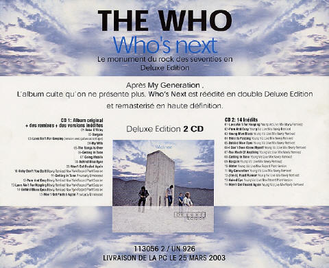 The Who - Who's Next Deluxe - 2003 France