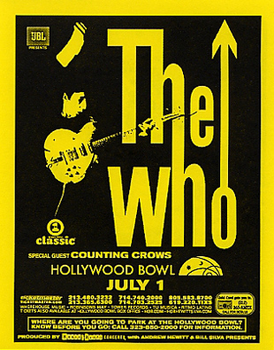 The Who - Hollywood Bowl July 1, 2002 - USA (Hand Bill)