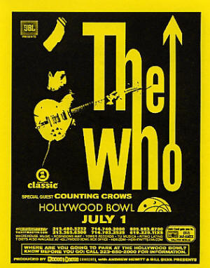The Who - Live In Concert - Hollywood Bowl August 9, 2004 (Handbill)