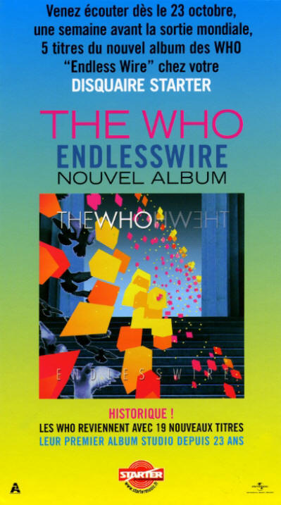 The Who - Endless Wire - 2006 France Store Display