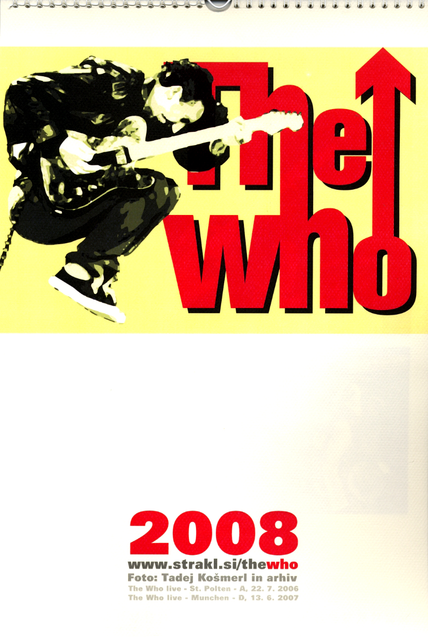 The Who - 2008 Calendar - Solvenia
