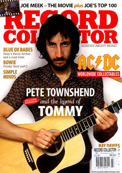 Pete Townshend - UK - Record Collector - July, 2009