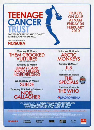 The Who - Teenage Cancer Trust (TCT) - March 30, 2010 UK