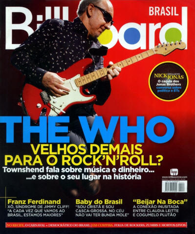 Pete Townshend - Brazil - Billboard - March, 2010