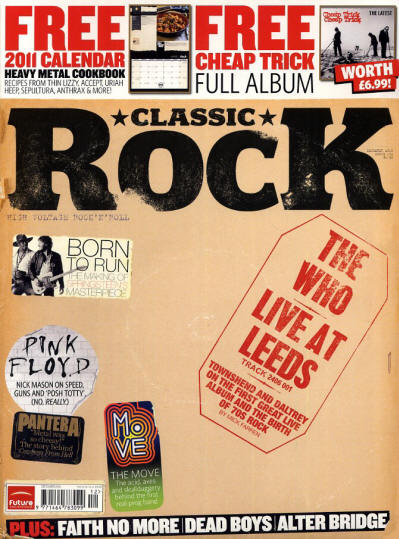 The Who - UK - Classic Rock - December, 2010 (Outer Cover)
