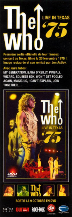 The Who - Live In Texas '75 - 2012 France