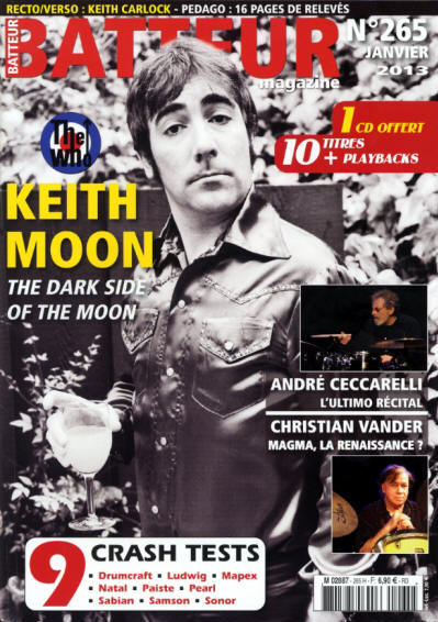 Keith Moon - France - Batteur - January, 2013