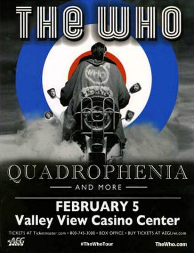 The Who - Valley View Casino Center - February 5, 2013 Flyer USA