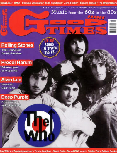 The Who - Germany - Good Times - March, 2013