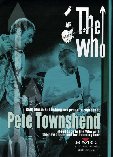 The Who / Pete Townshend - BMG - 2014 UK