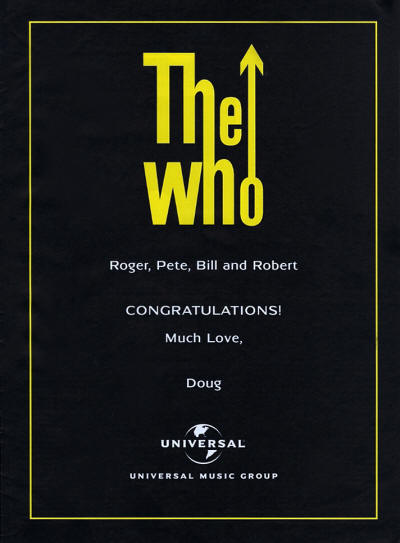 The Who - Universal Music Group - 2014 UK