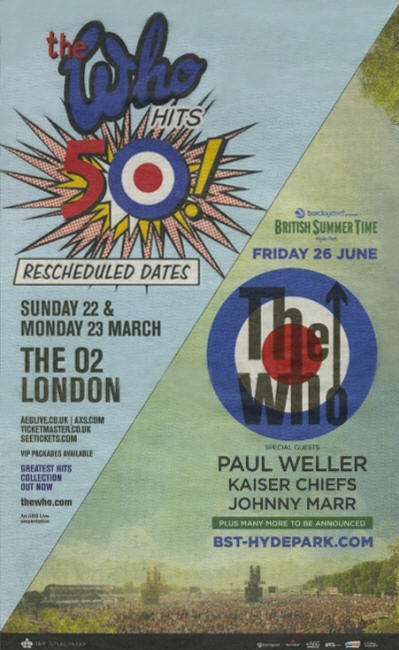 The Who Hit's 50 - March 22 & 23, 2015 - London 02 UK
