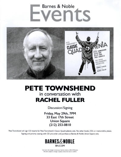 Pete Townshend - Classic Quadrophenia Signing - May 29, 2015