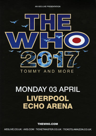 The Who 2017 - Tommy And More - April 3, 2017 - Liverpool Echo Arena UK