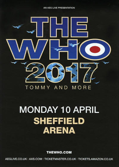 The Who 2017 - Tommy And More - April 10, 2017 - Sheffield Arena - Sheffield UK