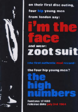 The High Numbers - I'm The Face - 1964 UK (reproduction)