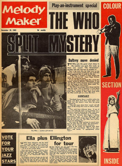 The Who - UK - Melody Maker - November 20, 1965