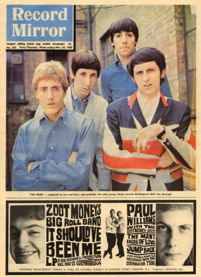 The Who - UK - Record Mirror - November 20, 1965