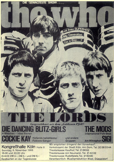 The Who - Kongresshalle - November 6, 1966 Germany (Reproduction)