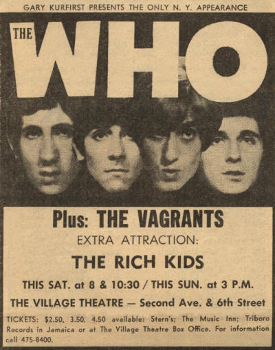 The Who - The Village Theatre, NY - August 7, 1967 USA