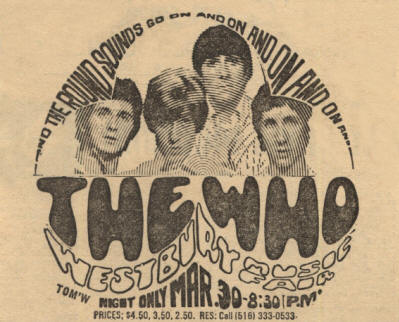 The Who - Westbury Music Fair, NY - March 30, 1968 USA