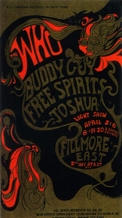 The Who - Fillmore East, New York, NY - April 5 & 6, 1968 USA (Reproduction)