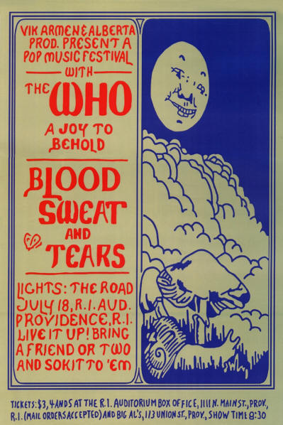 The Who - Rhode Island Auditorium, Providence, RI - July 18, 1968 (Reproduction)