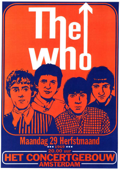 The Who - Concertgebouw, Amsterdam, Holland - September 9, 1969 (Reproduction)
