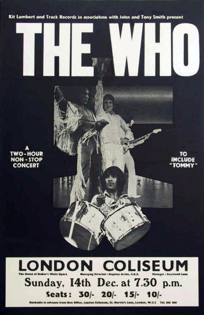 The Who - London Coliseum - December 14, 1969 UK (Reproduction)
