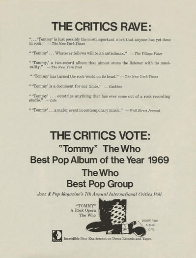 The Who - Tommy - 1970 USA