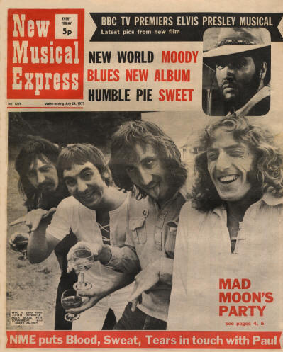 The Who - UK - New Musical Express - July 24, 1971