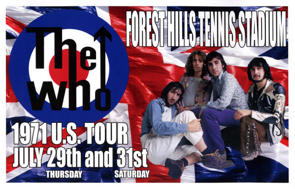 The Who - Forest Hills, NY - 1971 USA (Reproduction)
