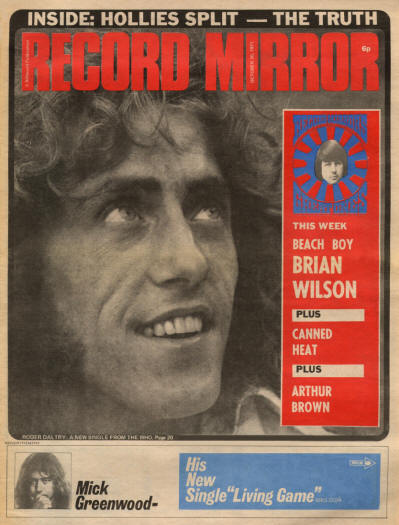 The Who - UK - Record Mirror - October 30, 1971