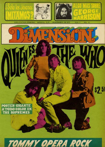 The Who - Mexico - Dimension - November, 1971