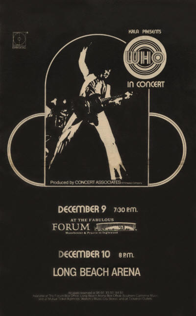 The Who - USA - The Forum - December 9, 1971 & Long Beach Arena - December 9, 1971