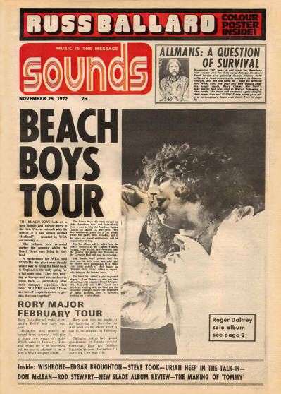 Roger Daltrey - UK - Sounds, November 25, 1972