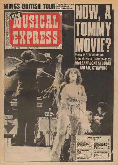 The Who - UK - New Musical Express - December 16, 1972
