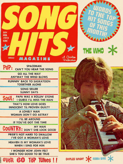 The Who - USA - Song Hits - February, 1973