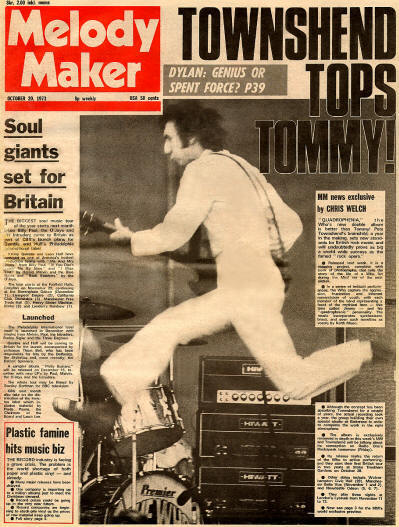 The Who - UK - Melody Maker - October 20, 1973