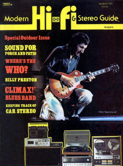 Pete Townshend - USA - Hi Fi & Stereo Guide - August, 1974