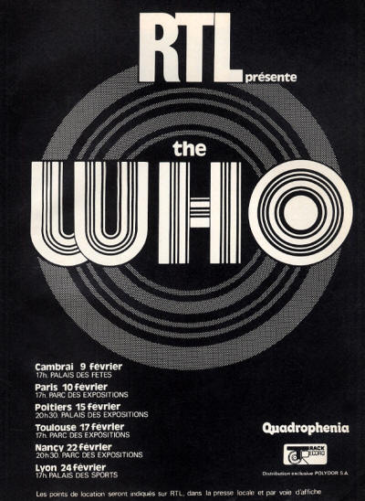 The Who - RTL Presente - 1974 France