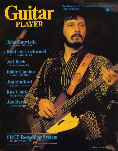John Entwistle - USA - Guitar Player - November, 1975