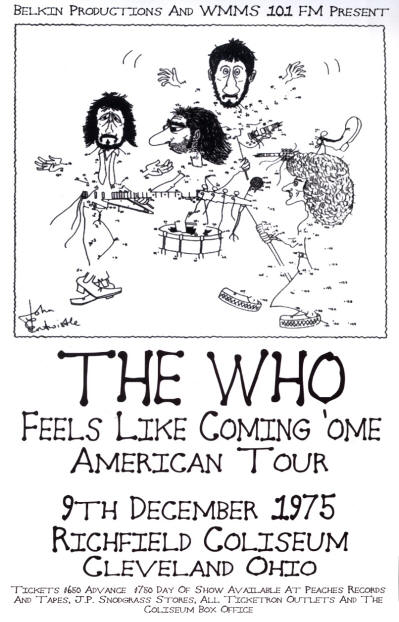 The Who - Richfield Coliseum - Cleveland, OH - December 9, 1975 (Reproduction)