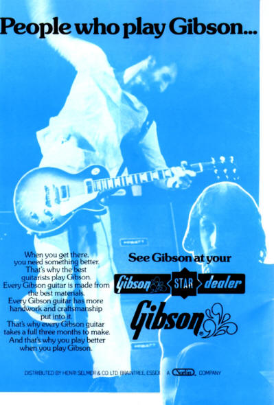 Pete Townshend - Gibson Guitars - 1975 UK
